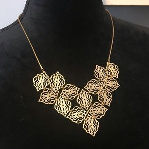 Vera Bradley gold tone bib necklace